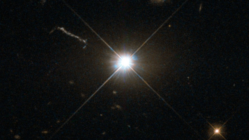 Astronomers find fastest-growing black hole known in space. (ESA/Hubble & Nasa)