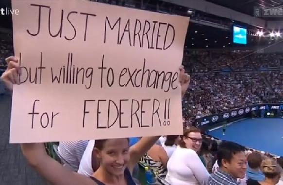 Married Federer Australian Open Fan