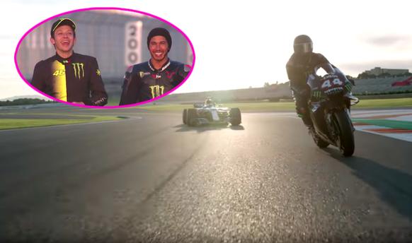 Hamilton fährt Rossis Töff und der «Dottore» dessen Formel-1-Auto