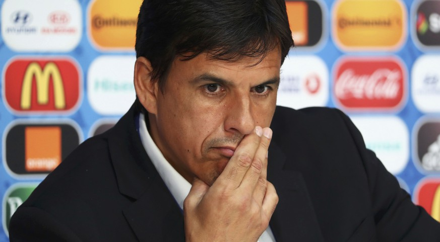 Football Soccer - EURO 2016 - Wales News Conference - Stade Pierre Mauroy - Lille, France 30/6/16  Wales' coach Chris Coleman attends a news conference     REUTERS/UEFA/Handout  via REUTERS  NO SALES. NO ARCHIVES. THIS IMAGE HAS BEEN SUPPLIED BY A THIRD PARTY. IT IS DISTRIBUTED, EXACTLY AS RECEIVED BY REUTERS, AS A SERVICE TO CLIENTS.