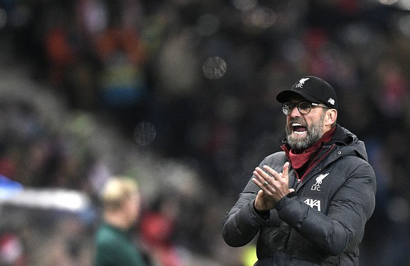 epa08060514 Manager Juergen Klopp of Liverpool FC during the UEFA Champions League group E soccer match between FC Salzburg and Liverpool FC in Salzburg, Austria, 10 December 2019.  EPA/CHRISTIAN BRUNA