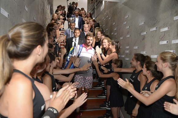 Tennis - French Open - Roland Garros, Paris, France - 7/6/15Switzerland's Stanislas Wawrinka as he enters the locker room after winning the men's finalAction Images via Reuters / Pool PicLivepic
