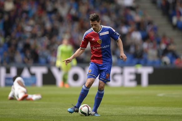 26.04.2015; Basel; Fussball Super League - FC Basel - FC Luzern; Fabian Schaer (Basel)(Claudia Minder/freshfocus)