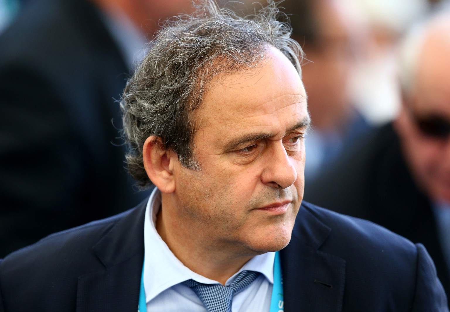 RIO DE JANEIRO, BRAZIL - JULY 13:  UEFA President Michel Platini looks on prior to the 2014 FIFA World Cup Brazil Final match between Germany and Argentina at Maracana on July 13, 2014 in Rio de Janeiro, Brazil.  (Photo by Robert Cianflone/Getty Images)