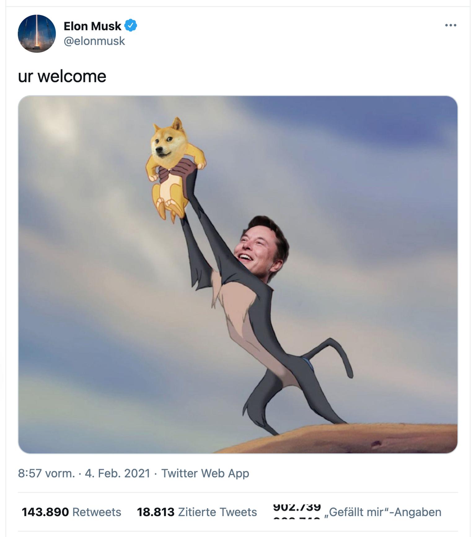 Dogecoin Wie Elon Musk die «Kryptowährung des Volkes» befeuerte