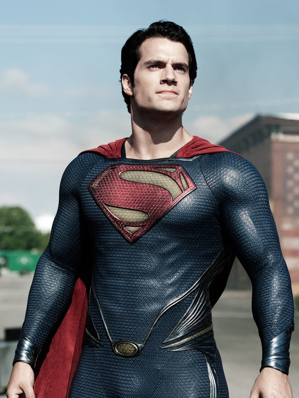 FILE - This film publicity image released by Warner Bros. Pictures shows Henry Cavill as Superman in