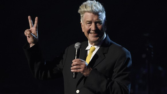 David Lynch speaks at the David Lynch Foundation Music Celebration at the Theatre at Ace Hotel on Wednesday, April 1, 2015, in Los Angeles. (Photo by Chris Pizzello/Invision/AP)