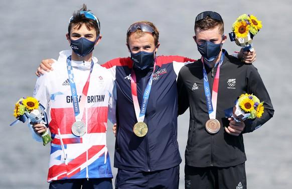 <strong>Männer: Triathlon</strong> Gold: Kristian Blummenfelt (NOR) Silber: Alex Yee (GBR) Bronze: Hayden Wilde (NZL)