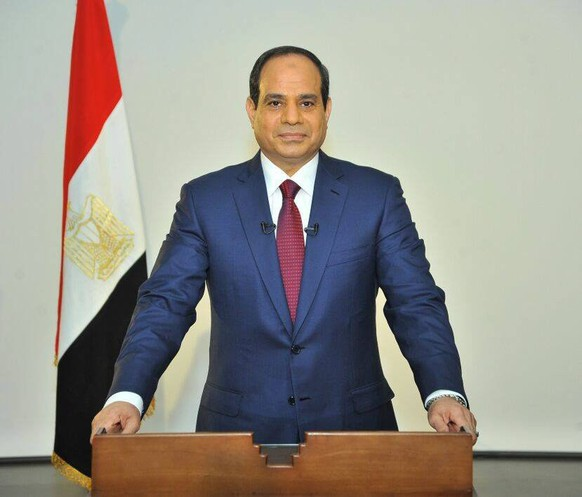 epa04238504 Presidential candidate Abdel Fattah al-Sisi gives a statement in Cairo, Egypt, 03 June 2014, following the election results. Abdel Fattah al-Sisi was elected Egypt's president with almost 97 per cent of the vote.  EPA/SISI CAMPAIGN HANDOUT   EDITORIAL USE ONLY/NO SALES