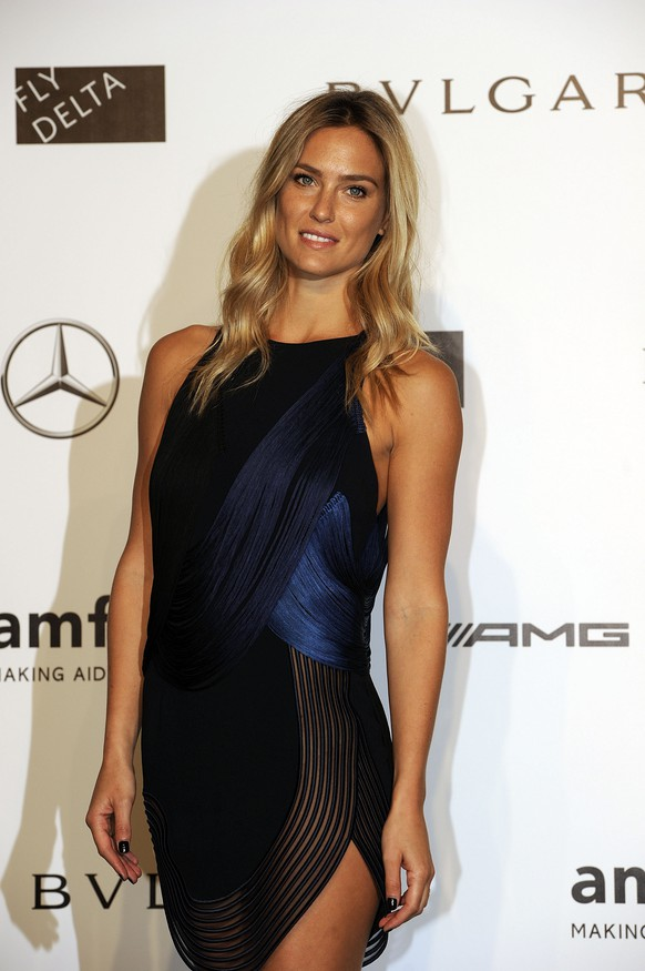 Model Bar Rafaeli arrives for the amfAR charity dinner during the fashion week in Milan, Italy, Saturday, Sept. 20, 2014. (AP Photo/Giuseppe Aresu)