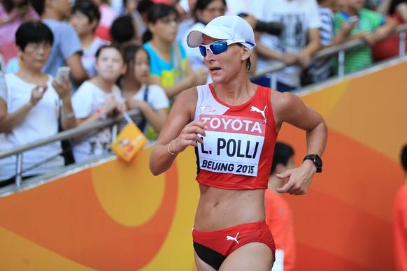 28.08.2015; Peking; Leichtathletik WM Peking 2015 - 20Km Gehen Frauen; Marie Polli (SUI)(Florian Grossniklaus/athletix/freshfocus)