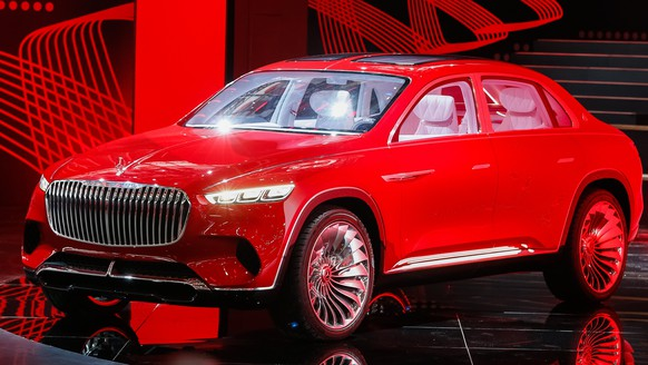 epa06691439 A new Mercedes Maybach Ultimate Luxury car is presented during a press conference at the Auto China 2018 motor show in Beijing, China, 25 April 2018. The 15th Beijing International Automotive exhibition or Auto China 2018 runs from 25 April to 04 May 2018.  EPA/ROMAN PILIPEY