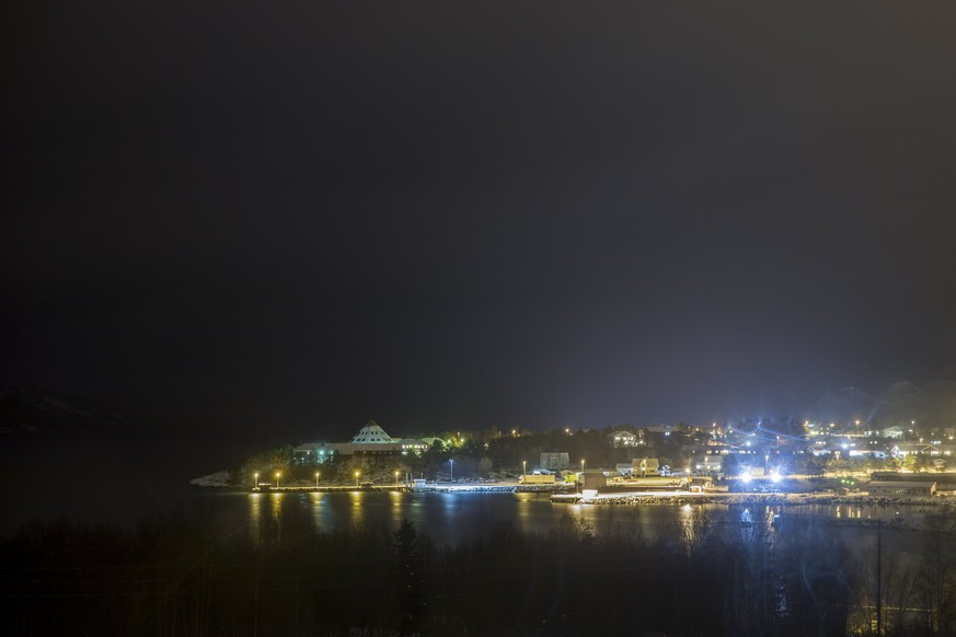 epa06355541 A night view of the village of Drag, Tysfjord, Norway, late 27 November 2017 (issued 28 November 2017). According to reports, an estimated 151 sexual abuse cases related to Tysfjord in northern Norway have been revealed, the biggest such case in Norway. These include 43 rape cases and 40 cases of sexual intercourse with children under 14 years of age, reports state. Many of the cases include gross sexual assault - including rape of children. Almost 70 per cent of the affected and of the suspects allegedly belong to the Lulean (Sami) population. The youngest victim was four-years-old when the abuse started, while the ages of those that abused others range from 10 to 80 years of age. Earliest abuse cases are believed to have taken place in 1953 and police believe more similar cases are likely to be reported up in near future.  EPA/TORE MEEK NORWAY OUT