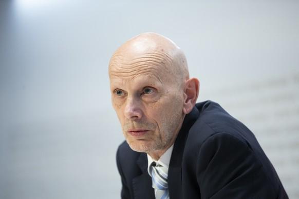 Daniel Koch, Leiter Abteilung uebertragbare Krankheiten BAG, spricht waehrend einer Medienkonferenz ueber die Situation des Coronavirus, am Freitag, 6. Maerz 2020 in Bern. (KEYSTONE/Peter Klaunzer)