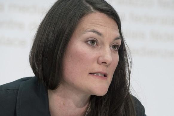 Tiana Angelina Moser, Fraktionspraesidentin der Gruenliberalen Partei (GLP), startet den Wahlkampf fuer die National- und Staenderatswahlen im Herbst am Dienstag, 30. Juni 2015, in Bern. (KEYSTONE/Lukas Lehmann)