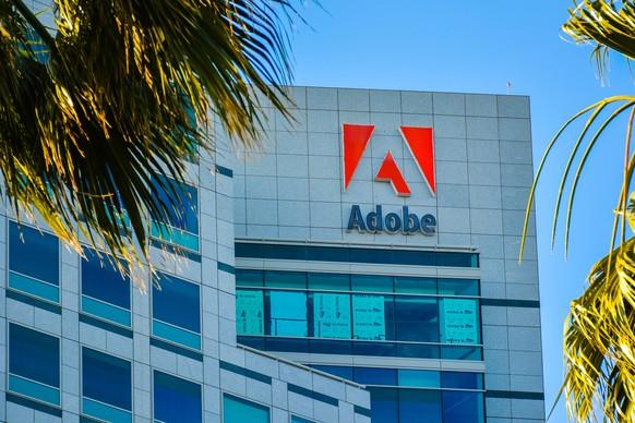 Adobe Hauptsitz in San José, Kalifornien, USA.