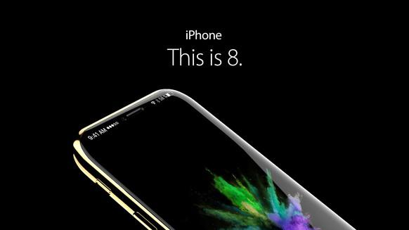 Konzept (basierend auf Gerüchten!) zum iPhone 8 / iPhone X Quelle: handy-abovergleich.ch / Remo Zehnder)