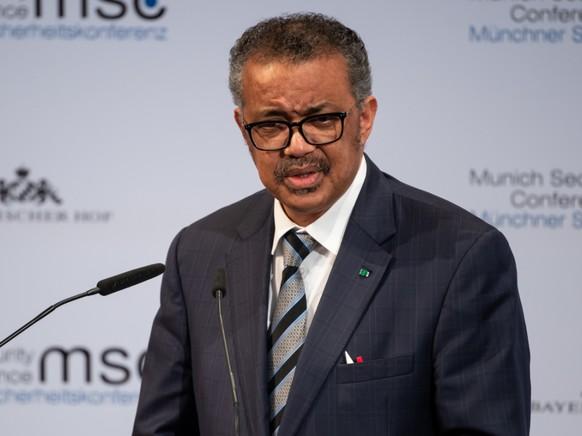 FILED - Tedros Adhanom Ghebreyesus, Generaldirektor der Weltgesundheitsorganisation (WHO) spricht bei einer Pressekonferenz. Photo: Sven Hoppe/dpa