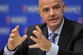 NYON, SWITZERLAND - SEPTEMBER 18:  UEFA General Secretary Gianni Infantino speaks during a press conference following the Executive Committee meeting at the UEFA headquarters, The House of European Football, on September 18, 2014 in Nyon, Switzerland.  (Photo by Harold Cunningham/Getty Images for UEFA)