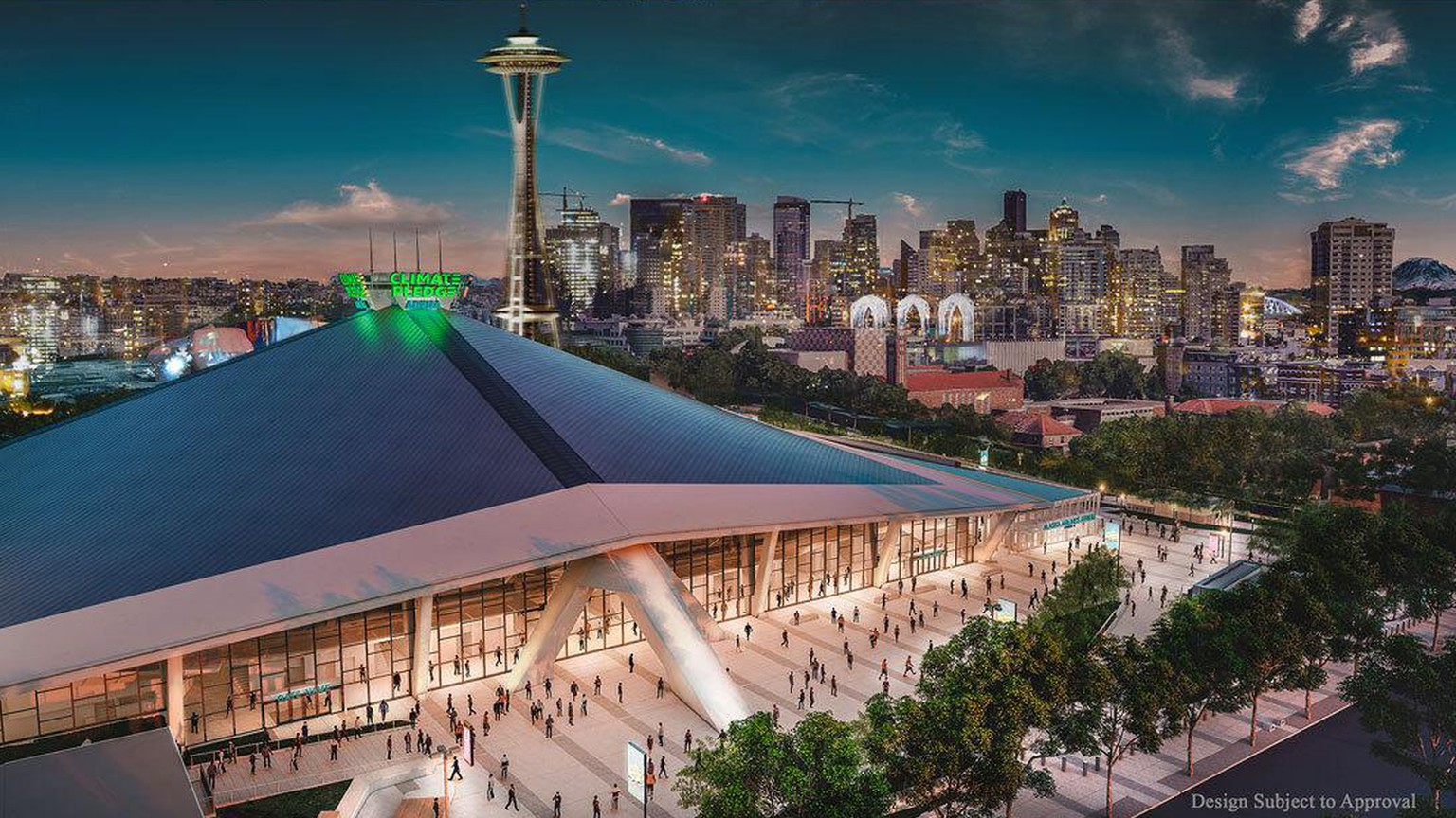 Climate Pledge Arena in Seattle – visualization