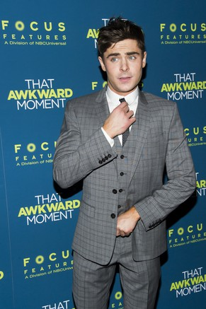 "Zac Efron attends the ""That Awkward Moment"" premiere on Wednesday, Jan. 22, 2014, in New York. (Photo by Charles Sykes/Invision/AP)"