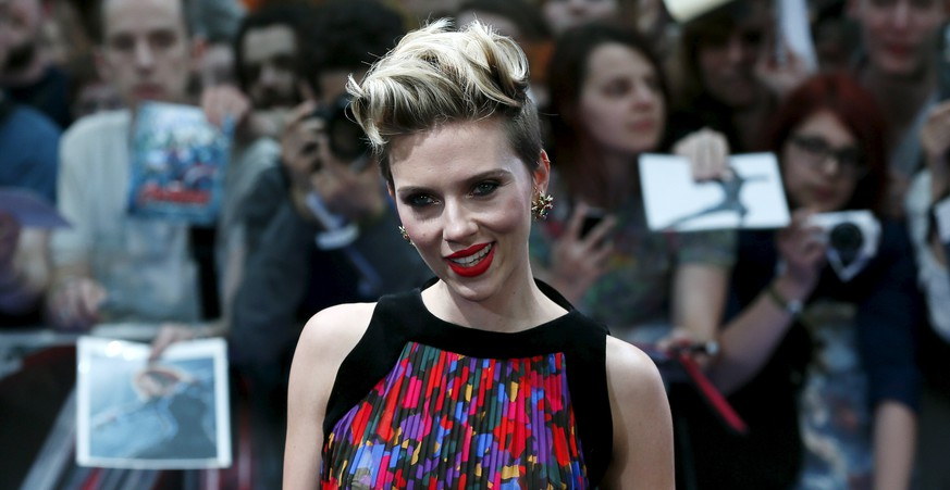 Cast member Scarlett Johansson poses at the European premiere of