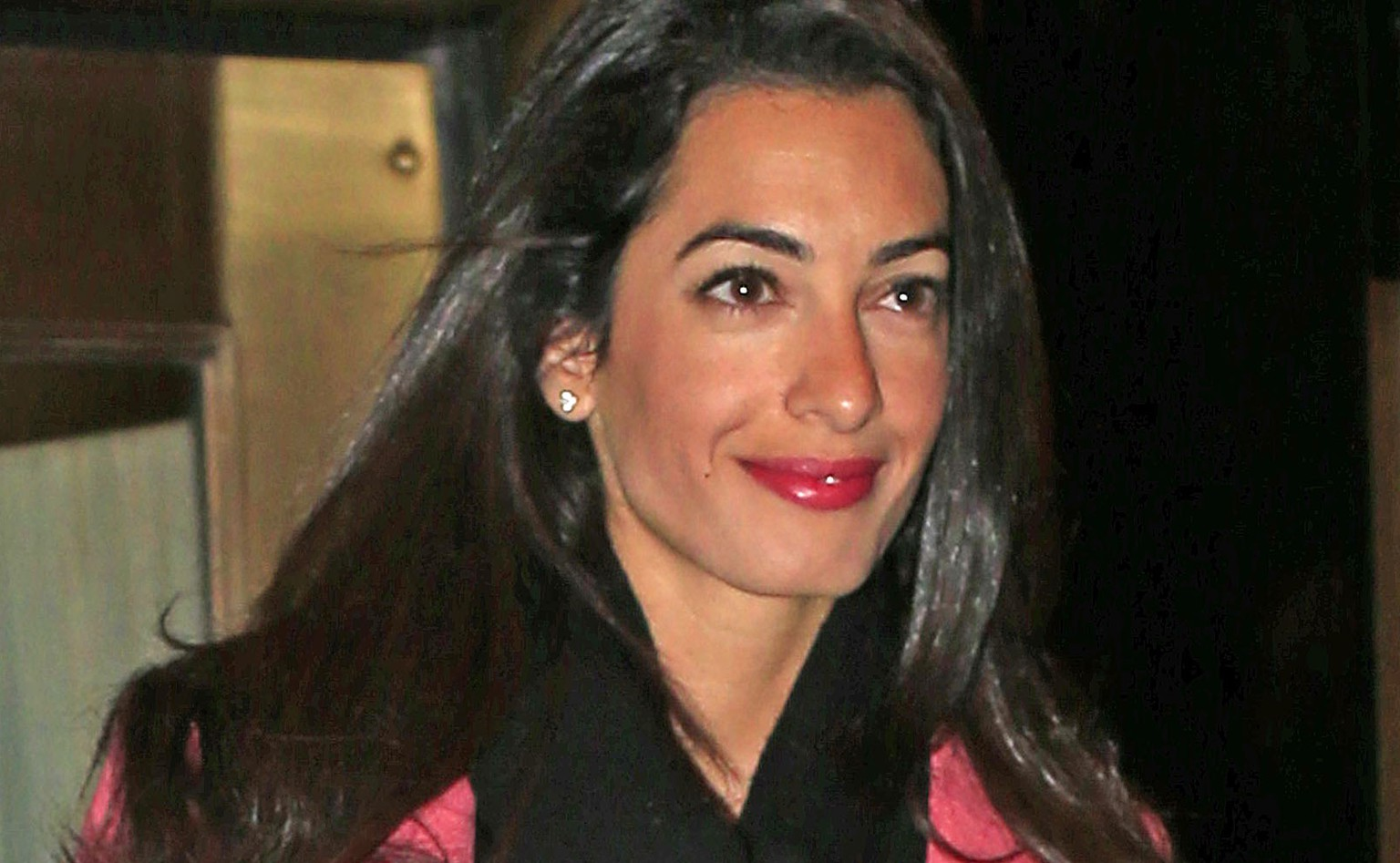 Amal Alamuddin, George Clooney's new rumored girlfriend, seen outside the Carlyle hotel on her way to dinner in New York City.