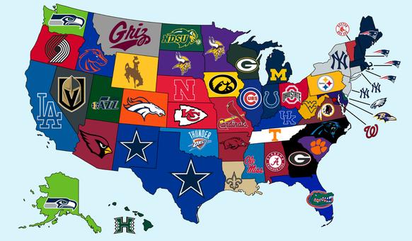 Die populärsten Sportteams jedes US-Staates – nur ein NHL-Klub schafft's in die Rangliste