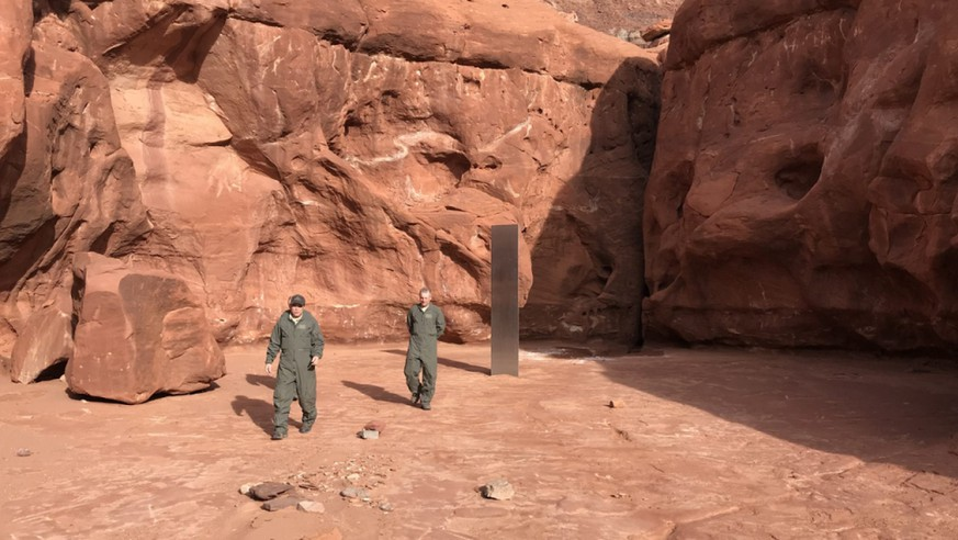 Behörde: Rätselhafter Metall-Monolith in Utah wieder verschwunden