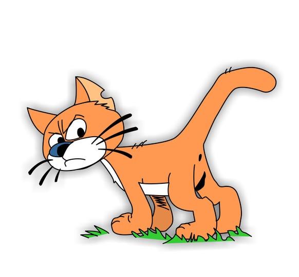 Schlümpfe Katze