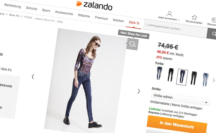zalando preist mit mager models jeans an die facebook. Black Bedroom Furniture Sets. Home Design Ideas