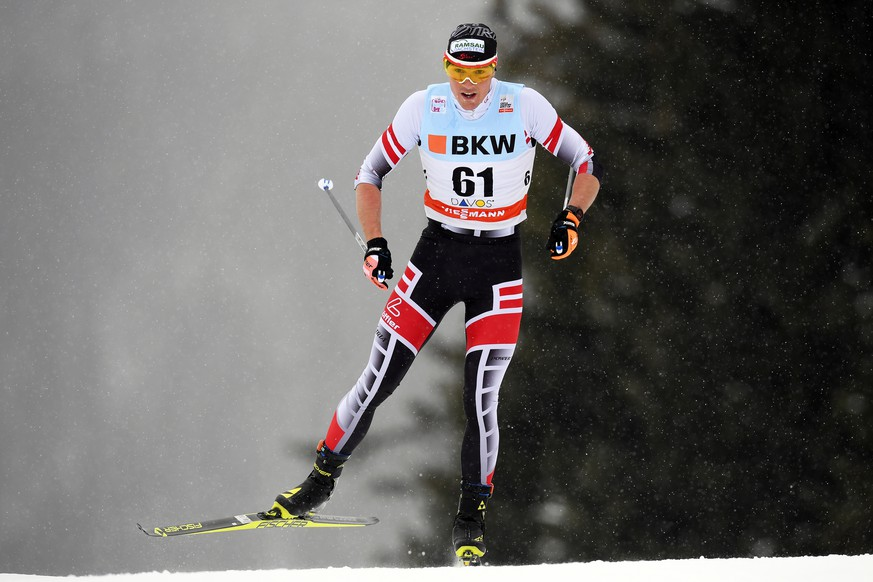 epa07401522 (FILE) - Max Hauke of Austria in action during the men's 15km freestyle race at the FIS Cross Country Skiing World Cup in Davos, Switzerland, 10 December 2017 (re-issued 27 February 2019). According to media reports, Austrian skier Max Hauke is suspected to be among seven people being detained during an anti-doping raid conducted by the Austrian federal police at the 2019 Nordic Skiing World Championships in Seefeld, Austria, 27 February 2019.  EPA/GIAN EHRENZELLER *** Local Caption *** 53950685