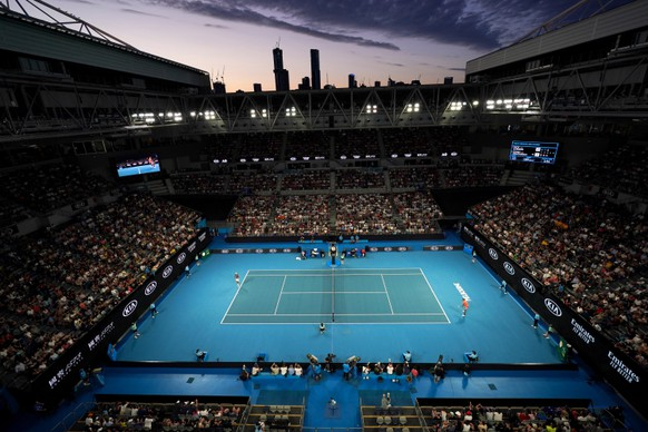 epa08162417 A general view of Melbourne Arena during the third round match between Nick Kyrgios of Australia and Karen Kachanov of Russia on day six of the Australian Open tennis tournament in Melbourne, Australia, 25 January 2020.  EPA/MICHAEL DODGE AUSTRALIA AND NEW ZEALAND OUT