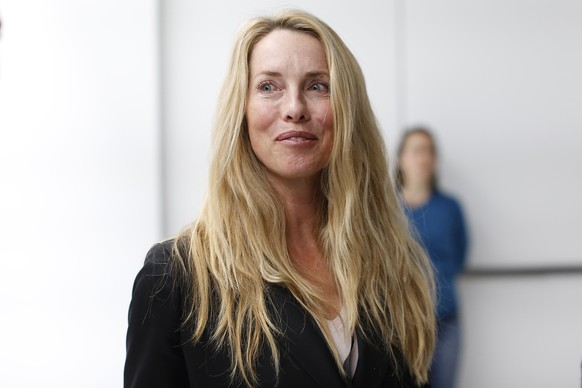 SAN FRANCISCO, CA - MARCH 9: Laurene Powell Jobs, widow of late Apple founder and CEO Steve Jobs, is seen among the crowd after an Apple special event at the Yerba Buena Center for the Arts on March 9, 2015 in San Francisco, California. Apple Inc. announced the new MacBook as well as more details on the much anticipated Apple Watch, the tech giant's entry into the rapidly growing wearable technology segment as well (Photo by Stephen Lam/Getty Images)