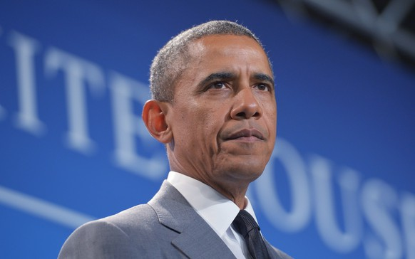 (FILES) This June 23, 2014 file photo shows US President Barack Obama as he speaks during the White House Summit on Working Families in Washington, DC.   A new poll on July 2, 2014 found President Barack Obama, who is enduring a tough second term, topping a list of the worst US leaders since World War II. The survey, by the polling institute at Quinnipiac University, revealed that 33 percent of those asked saw Obama as the worst leader in the last 70 years. Twenty-eight percent picked his predecessor, Republican George W. Bush. Quinnipiac said that 35 percent saw Republican Ronald Reagan, president from 1981 to 1989, as the best US leader since 1945, with 18 percent choosing Bill Clinton and 15 percent going for the assassinated John F. Kennedy. AFP PHOTO/Mandel NGAN
