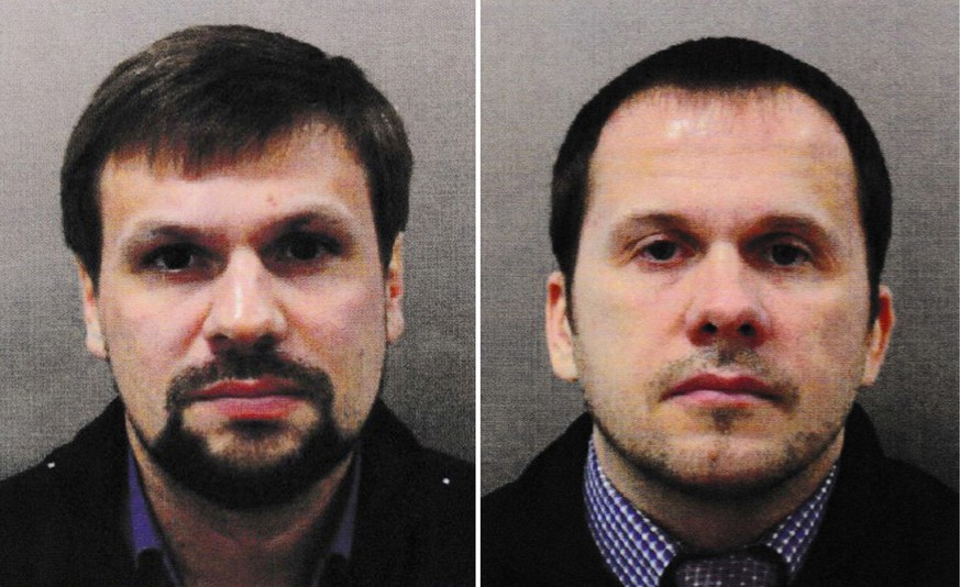 epa07017016 (FILE) - An undated combo handout photo made available by the British London Metropolitan Police (MPS) showing Alexander Petrov (R) and Ruslan Boshirov (L) (reissued 13 September 2018). An interview with two men identifying themselves as Ruslan Boshirov and Alexander Petrov was released on 13 September 2018 by Russian TV station Russia Today (RT). In the interview, the two men who are the main susspects in the Salisbury Novichok poisoning cases say they were innocent and had visited Salisbury only as tourists.  EPA/LONDON METROPOLITAN POLICE / HANDOUT  HANDOUT EDITORIAL USE ONLY/NO SALES HANDOUT EDITORIAL USE ONLY/NO SALES