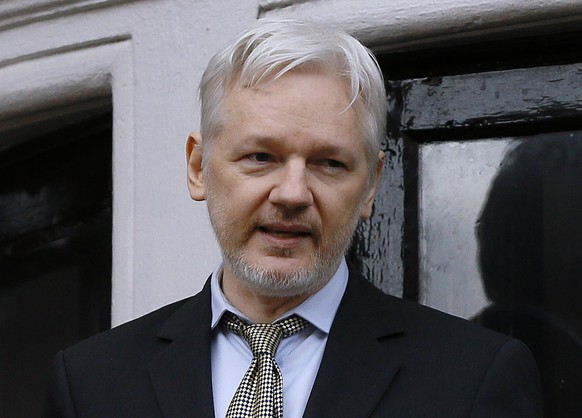 FILE - In this Friday Feb. 5, 2016 file photo, Wikileaks founder Julian Assange speaks from the balcony of the Ecuadorean Embassy in London. Assange will be interviewed by Fox News Channel's Sean Hannity on