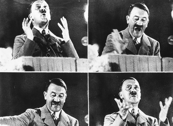 (FILE) August 2nd will mark 80 Years since Adolf Hitler became the Fuhrer of Germany. His reign as Fuhrer was between August 2, 1934 - April 30, 1945. 14th October 1944:  German dictator Adolf Hitler at various moments during his delivery of a speech.  (Photo by Keystone/Getty Images)