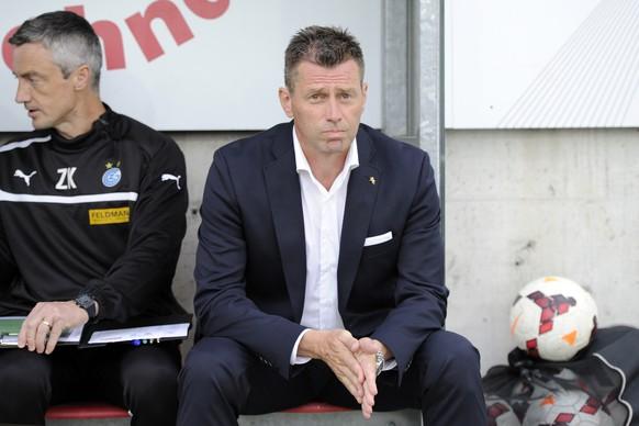 10.05.2014; Aarau; Fussball Super League - FC Aarau -  Grasshopper Club Zuerich; Trainer Michael Skibbe (GC) (Claudia Minder/freshfocus)
