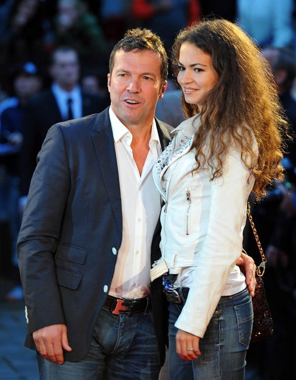 HAMBURG, GERMANY - SEPTEMBER 08:  German football legend, Lothar Mathaus arrives with his girlfriend Anastasia, at the evening gala at Schmidt theater after the day of the legends event at the Millentor stadium on September 8, 2013 in Hamburg, Germany.  (Photo by Stuart Franklin/Bongarts/Getty Images)