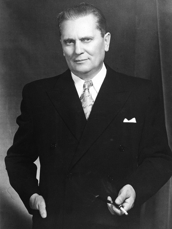 Yugoslav Emb./Dec.54,A32tH.E. Marshal Tito, the President of the Federal People's Republic of Yugoslavia, who came to  India on December 16, 1954.