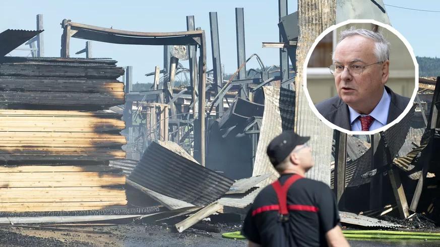 Brand in Sägerei von SVP-Nationalrat: Es war Brandstiftung