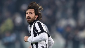 Juventus midfielder Andrea Pirlo celebrates after scoring during a Serie A soccer match between Juventus and Atalanta at the Juventus stadium, in Turin, Italy, Friday, Feb. 20, 2015. (AP Photo/Alessandro Di Marco, Ansa) ITALY OUT