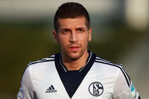 DOHA, QATAR - JANUARY 15:  Matija Nastasic of Schalke looks on prior to a friendly match between FC Schalke 04 and Al-Merrikh SC at ASPIRE Academy for Sports Excellence on January 15, 2015 in Doha, Qatar. on January 15, 2015 in Doha, Qatar.  (Photo by Alex Grimm/Bongarts/Getty Images)