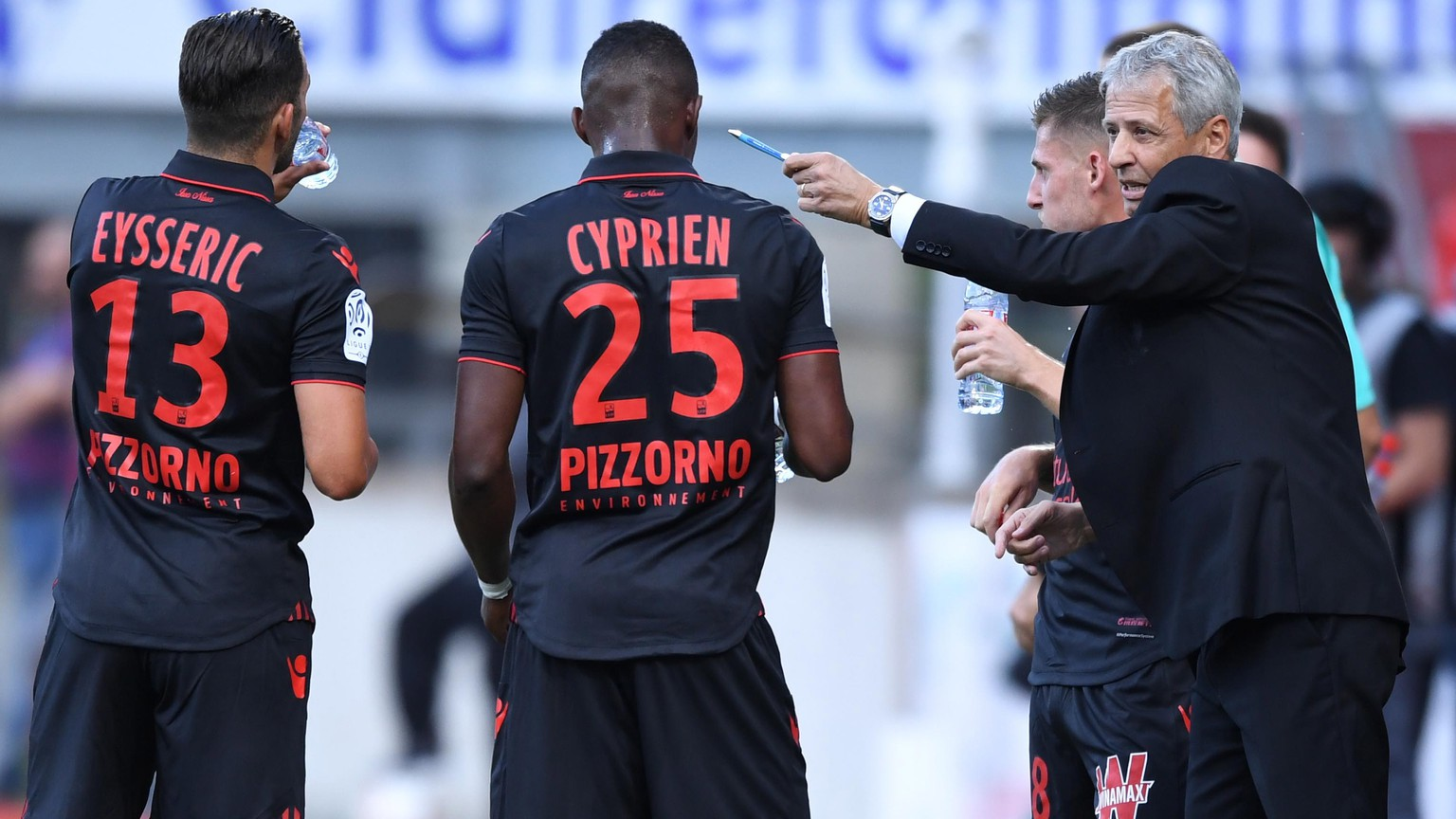 25.09.2016; Nacy; Fussball Ligue 1 - OGC Nice - AS Nancy ; Trainer Lucien Favre (Nice)