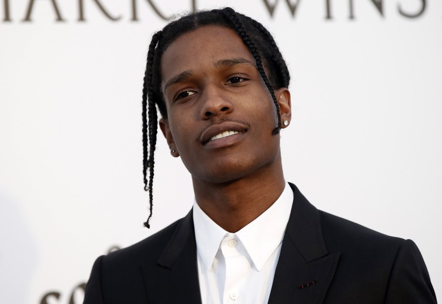 epa07772930 (FILE) - US rapper A$AP Rocky attends the Cinema Against AIDS amfAR gala 2017 held at the Hotel du Cap, Eden Roc in Cap d'Antibes, France, 25 May 2017 (reissued 14 August 2019) The Stockholm District Court on 14 August 2019 found US rapper ASAP Rocky guilty of assault and gave him a suspended sentence. ASAP Rocky was detained in Stockholm on 03 June and released at the conclusion of the trial on 02 August after which he left the country.  EPA/GUILLAUME HORCAJUELO *** Local Caption *** 53545968