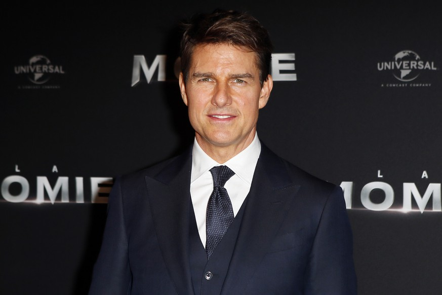FILE - In this Tuesday, May 30, 2017, file photo, Tom Cruise poses during a photocall for the French premiere of