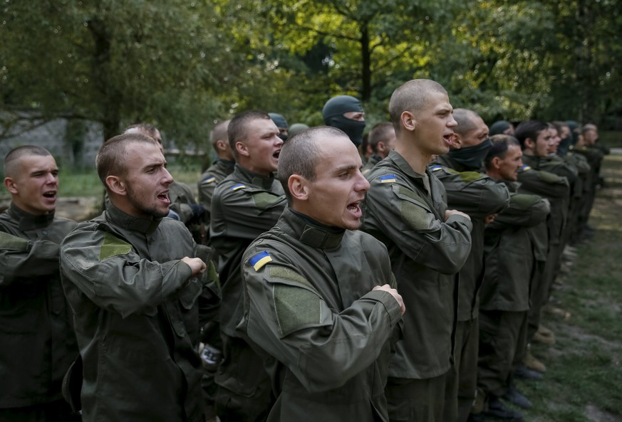 New volunteers for the Ukrainian interior ministry's