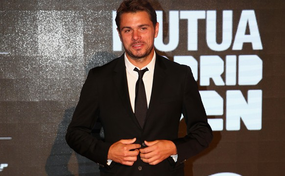 MADRID, SPAIN - MAY 03:  Stanislas Wawrinka of Switzerland arrives at the player party during day two of the Mutua Madrid Open tennis tournament at the Caja Magica  on May 3, 2015 in Madrid, Spain.  (Photo by Clive Brunskill/Getty Images)