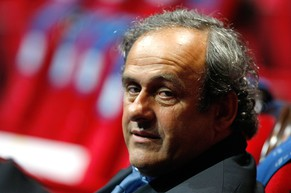 UEFA President Michel Platini, attends the UEFA Champions League draw ceremony, at the Grimaldi Forum, in Monaco, Thursday, Aug. 28, 2014. (AP Photo/Claude Paris)